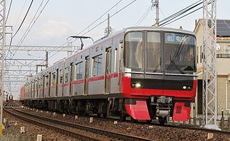 Meitetsu 3300 series - Set 3307 in December 2015