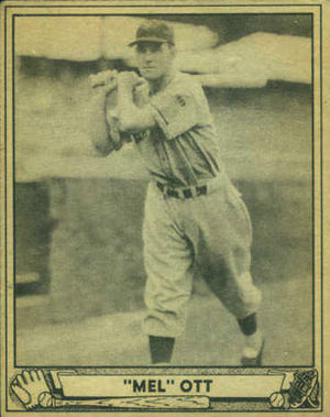 Mel Ott - Ott's 1940 Play Ball  baseball card