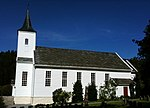 Meland kirke in the municipality of Meland, Hordaland, Norway