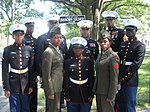 Members of the Harlem Youth Marines pay respects to those that made the ultimate sacrifice at Arlington National Cemetary in Arlington, VA- 2014-01-18 21-09.jpg