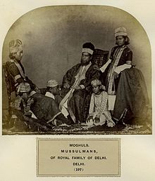 Members of the Mughal royal family of Delhi, 1860s.jpg