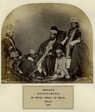 Mughal tribe - A photo from The People of India, published from 1868 to the early 1870s by W. H. Allen Ltd, for the India Office.