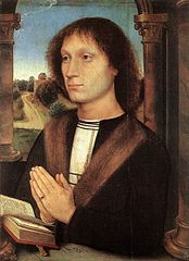 Benedetto Portinari triptych: Right wing, Portrait of a Praying Man