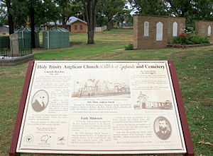 Holy Trinity Church, Bacchus Marsh - Image: Memorial garden interp board Holy Trinity Bacchus Marsh