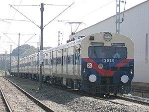 Thiruvananthapuram railway division - A MEMU train near Kollam MEMU Shed