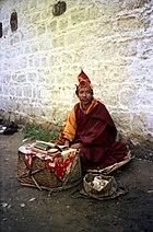 Mendicant monk. Lhasa 1993