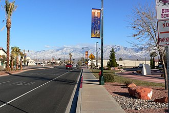 Mesquite, Nevada - Main Street in January 2007, near City Hall