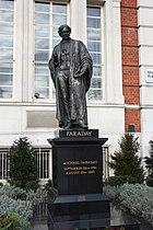 Michael Faraday - statue in Savoy Place, London. Sculptor John Henry Foley RA