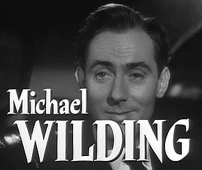 Description de l'image  Michael Wilding in Stage Fright trailer.jpg.
