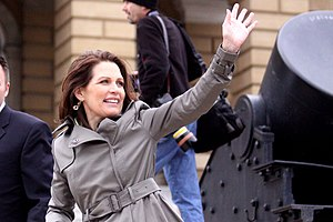 English: Michele Bachmann at the state capitol...