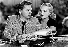 Mickey Rooney en Jeanne Cagney in Quicksand (1950)