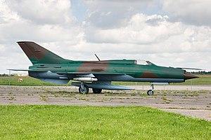 Mikoyan-Gurevich MiG-21 - MiG-21 at Aleksotas Airport (S. Dariaus / S. Gireno), Kaunas (EYKS)