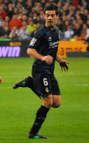 Mikel Labaka - Labaka in action for Real Sociedad in 2011