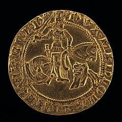 Francesco in Armor on Horseback, Wielding Sword [reverse]