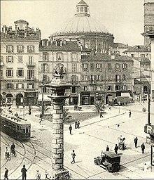 Largo San Babila tra il 1930 e il 1939