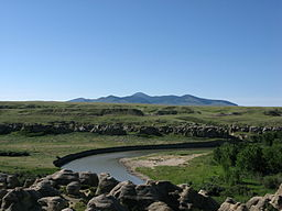 Milk River i Writing-on-Stone Provincial Park