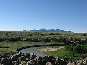 Milk River (Alberta–Montana) - The Milk River in Writing-on-Stone Provincial Park