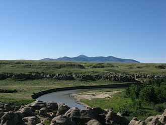 Writing-on-Stone Provincial Park - The park is located in the Milk River Valley. To the south are the volcanic Sweetgrass Hills