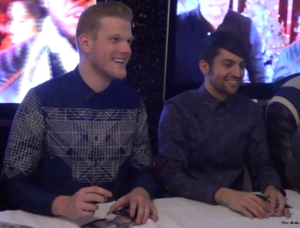 Superfruit (duo) - Hoying (left) and Grassi (right) at a signing in New York in 2014.