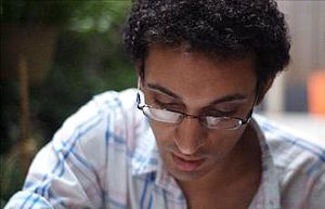 Mohammed Fairouz - Mohammed Fairouz at work on his second symphony in New York City, 2009