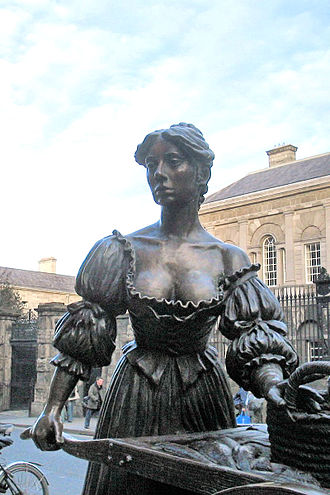 Molly Malone - Close-up of Molly Malone statue in Grafton Street, Dublin.
