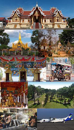 Vientiane Prefecture - Image: Montage of Vientiane Prefecture, Laos
