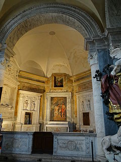 Montemirabile Chapel (Santa Maria del Popolo) building in Rome, Italy