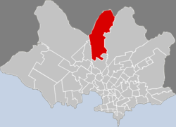 Location of Colón Sudeste - Abayubá in Montevideo
