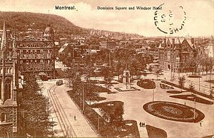 Postcard of Dominion Square in Montreal, Quebe...