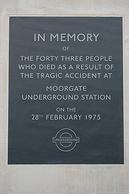Moorgate Station memorial - Andy Mabbett