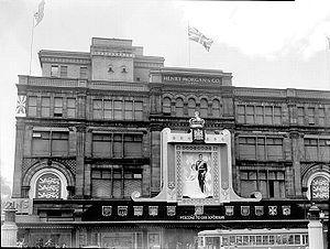 Morgan's - Morgan's Department Store in 1939, preparing for a Royal visit.