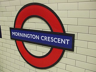 Mornington Crescent tube station - Image: Mornington Crescent stn roundel
