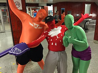 Zentai - Image: Morphsuit in downtown Toronto 02