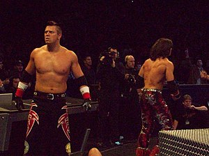 John Morrison and The Miz - Morrison (right) and The Miz (left) in 2009.