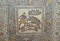 """Mosaic a boar hunt, from the Roman Villa """"Las Tiendas"""", mid 4th century AD, National Museum of Roman Art, Mérida (27567126637).jpg"""