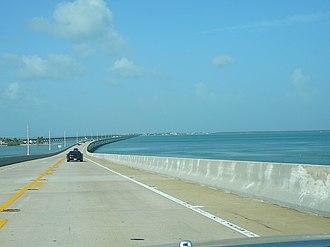 Overseas Highway - Overseas Highway traversing the Seven Mile Bridge