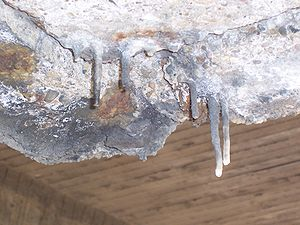 Stalactite - Concrete stalactites.