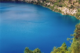 Blue Lake (South Australia) - Image: Mount Gambier Blue Lake C