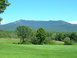 Underhill, Vermont - Western face of Mount Mansfield from Underhill, Vermont