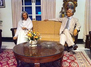 Fatima Jinnah - Wax statues of Jinnah and her brother Muhammad Ali Jinnah's at Madame Tussauds, London
