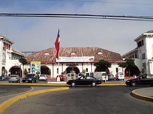San Antonio, Chile - Partial view of the facade of the Illustrious Municipality of San Antonio.