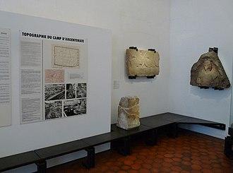 Argentoratum - Part of a room dedicated to Argentoratum in the Musée archéologique de Strasbourg