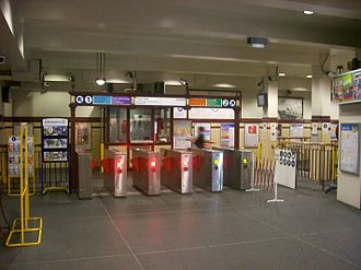Museum railway station - Image: Museum railway station ticket barriers