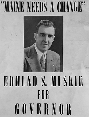 Edmund Muskie - Muskie For Maine campaign for the governorship of Maine