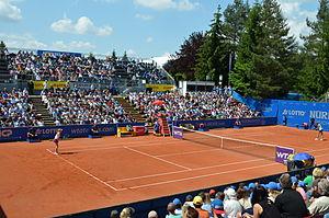 Nuremberg Cup - Image: Nürnberger Versicherungscup 2014 Centercourt des 1.FCN Tennis am Valznerweiher von Süd Osten 01