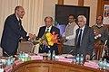 N. K. Singh, IAS and Shaktikanta Das, IAS being greeted by Fifteenth Finance Commission secretary, Arvind Mehta, IAS.jpg
