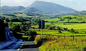 Creeslough - A view of the countryside around Creeslough with Muckish mountain in the background.