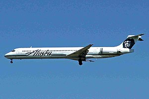 Alaska Airlines Flight 261 - Alaska Airlines MD-83, similar to the accident aircraft