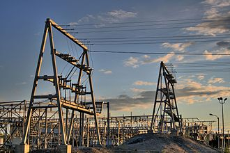 Electric power distribution - Substation near Yellowknife, in the Northwest Territories of Canada