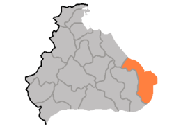 Location of Kosŏng County